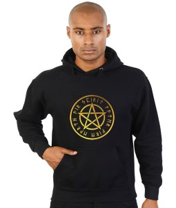 pentacle with runes pagan hoodie