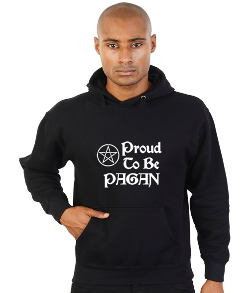 proud to be a pagan black hoodie