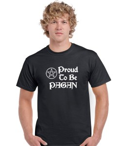 proud to be a pagan men's black t shirt