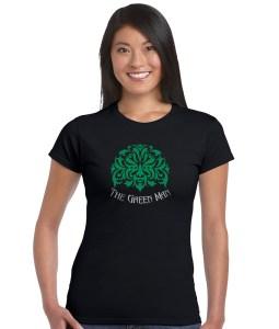 the green man ladies pagan shirt