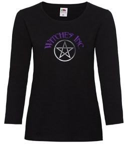 witches inc with pentacle ladies pagan shirt