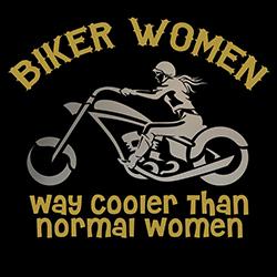 biker women way cooler ladies design