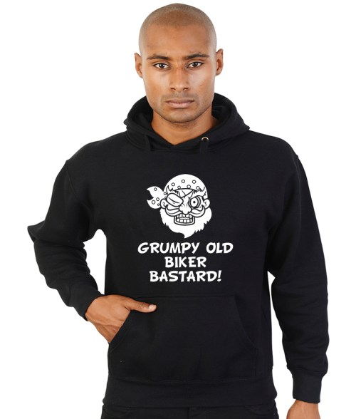 grumpy old biker bastard hoodie