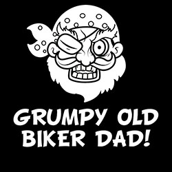 grumpy old biker dad design