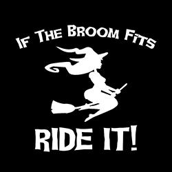 if the broom fits ride it ladies pagan shirt