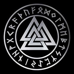 pentacle with valknut pagan design