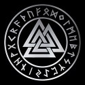 pentacle with valknut pagan design