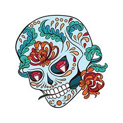 sugar skull design 01