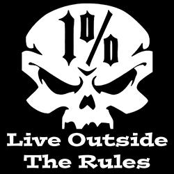 1percenter live outside the rules biker design