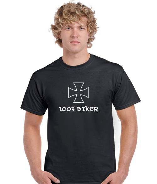 bikers cross 100 percent biker shirt