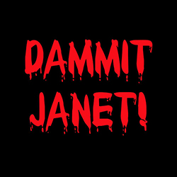 dammit janet rocky horror show funny design