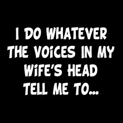 I Do Whatever The Voices In My Wife's Head Tell Me To funny shirt