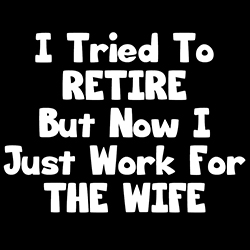 I Tried To Retire But Now I Just Work For The Wife funny shirt