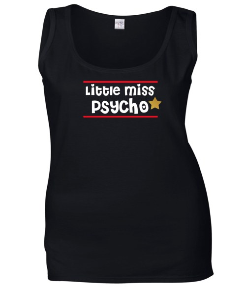 little miss psycho ladies funny design