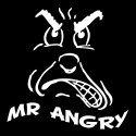 mr angry funny slogan design