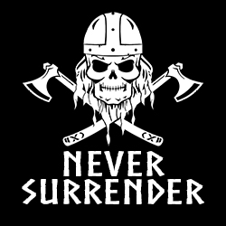 never surrender norse warrior design