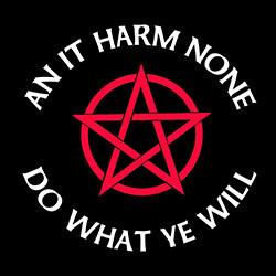 an it harm none pagan shirt