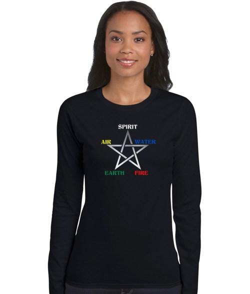 elemental pentagram pagan shirt