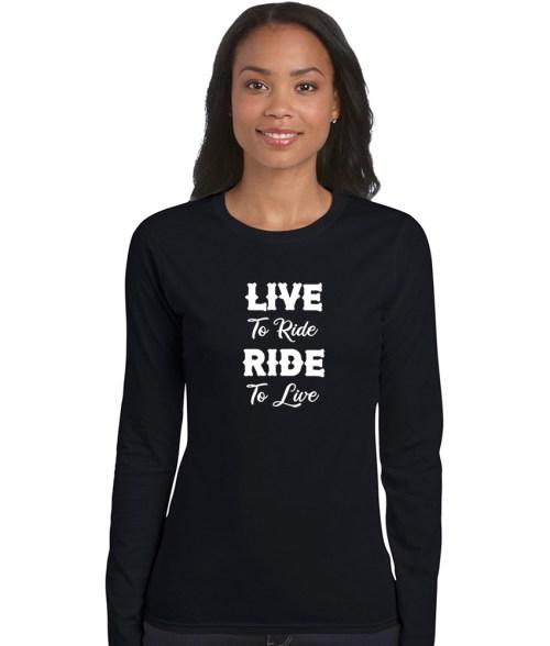live to ride, ride to live biker shirt