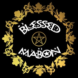 blessed mabon pagan design