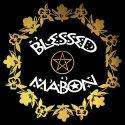 blessed mabon pagan design