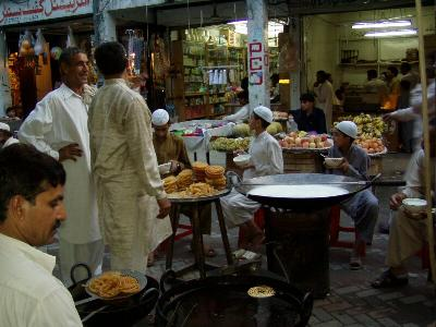 Stalls in Aabpara market islamabad