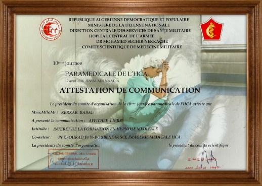 10eme journée paramédicale de l'HCA affiché du 17 avril 2016