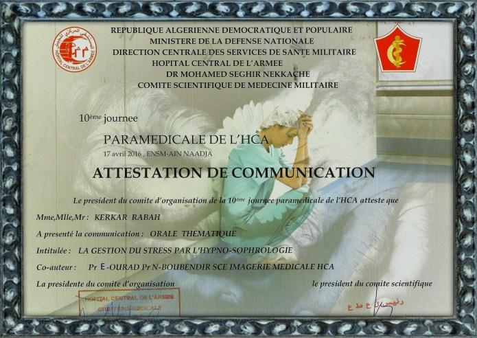 10eme journée paramédicale de l'HCA oraledu 17 avril 2016