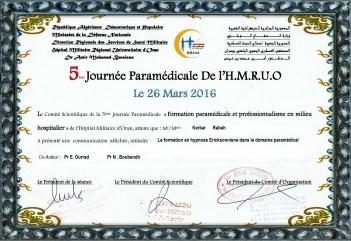 5 eme journée paramédicale de l'HMRUO