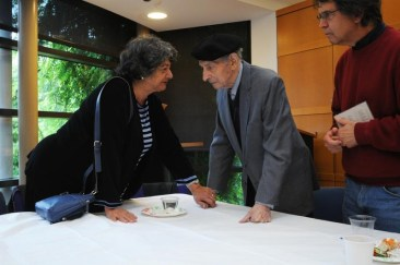 Rabbi Gold and guest at his CD release celebration, Oct. 2012