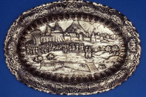 Passover Plate, Lvov, Ukraine, ca1805, Gross Family Collection, Tel Aviv
