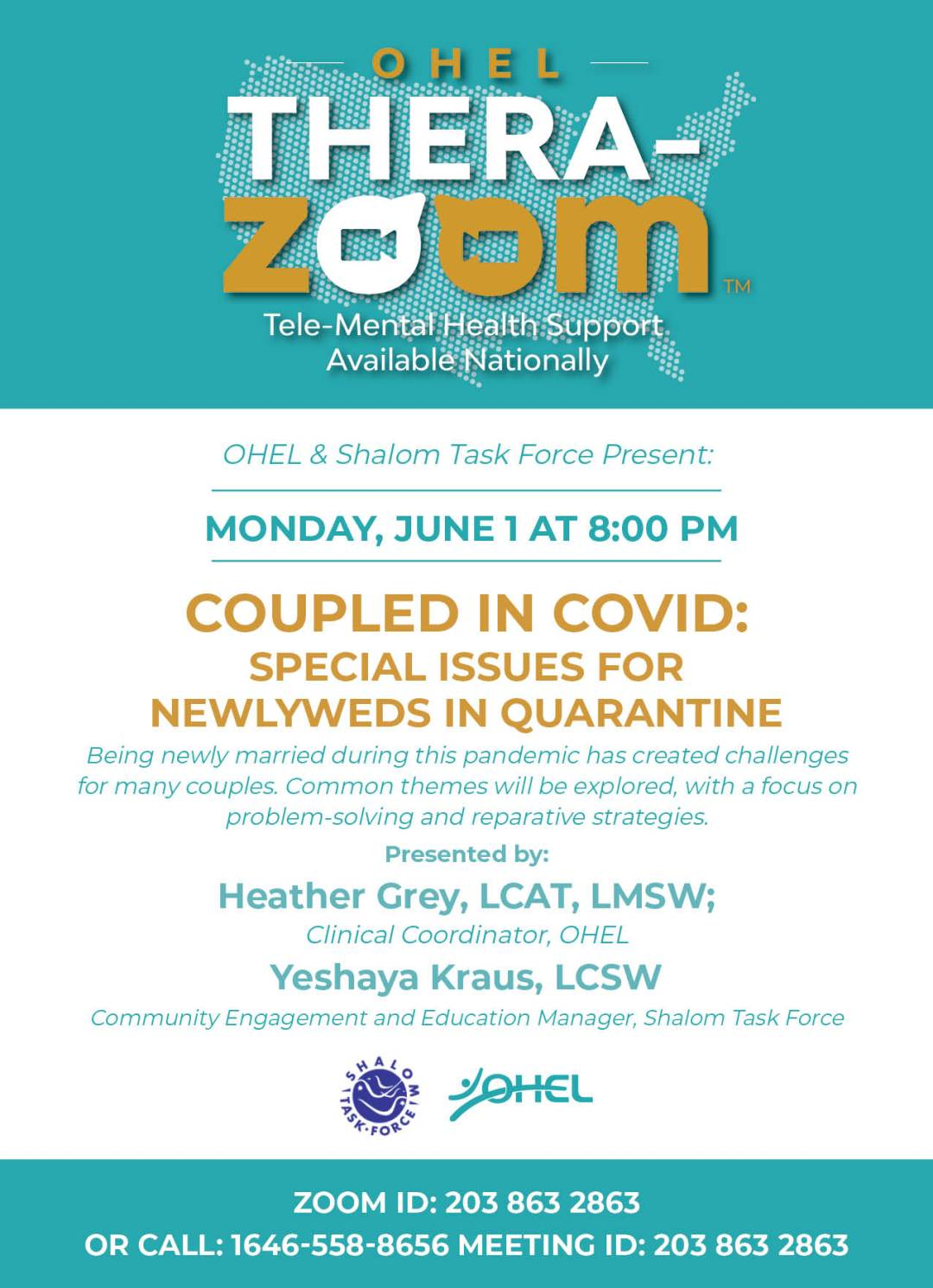 OHEL TZ Coupled in Covid - June 1[2]