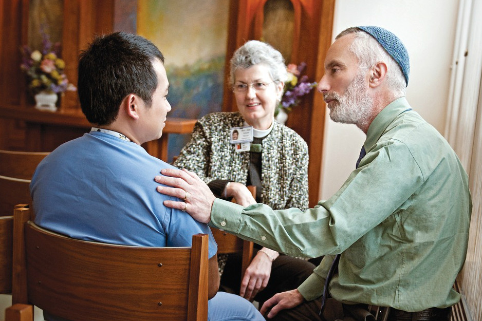 Rabbinic Pastor caring for client