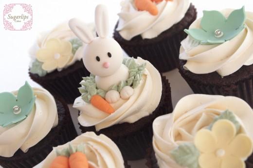 Birthday Bunny Cupcakes by Sugarlips Cakes  Rabbit Food For My Bunny Teeth