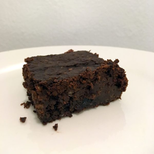 Pumpkin brownie square