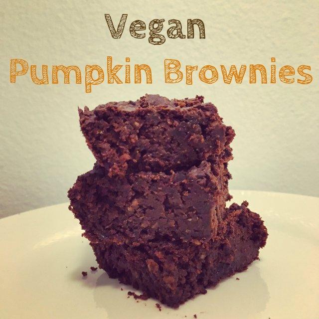 vegan black bean pumpkin brownies