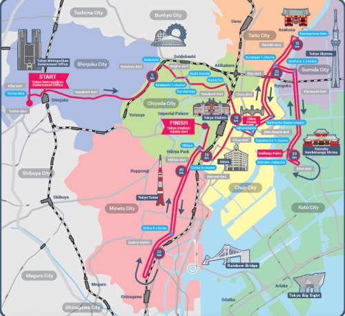 2017 Tokyo Marathon Course Map