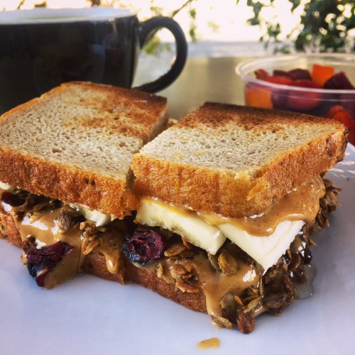 5 fast vegan meals in 15 minutes of less PB sandwich
