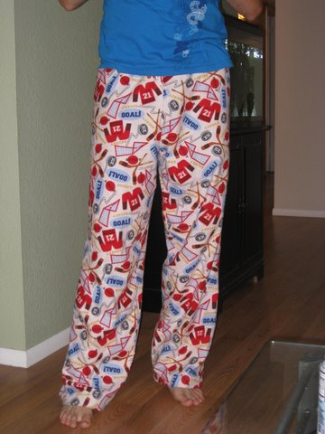 Hockey pajama pants
