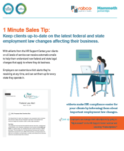 Sales Tip Keep clients up to date