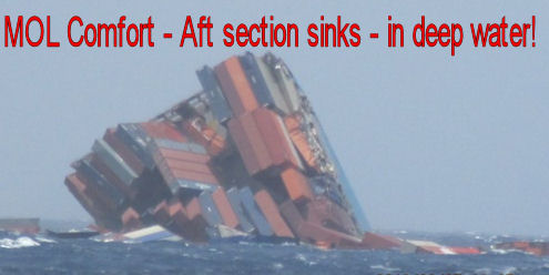 MOL Comfort aft section sinks