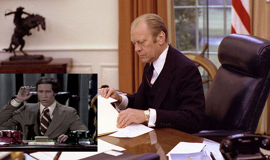 Gerald Ford and Chevy Chase