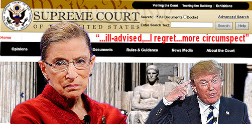 Justice Ginsburg regrets