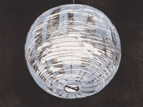 Katherine Jones, Lamp Shade, Sugarlift aquatint etching, 33 x 36cm, Plate size 14.7 x 19.7cm, Edition 25, Eton Portfolio