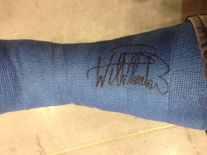 Signed cast