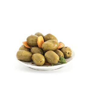 Olive Siciliane Verdi Condite Ortolana