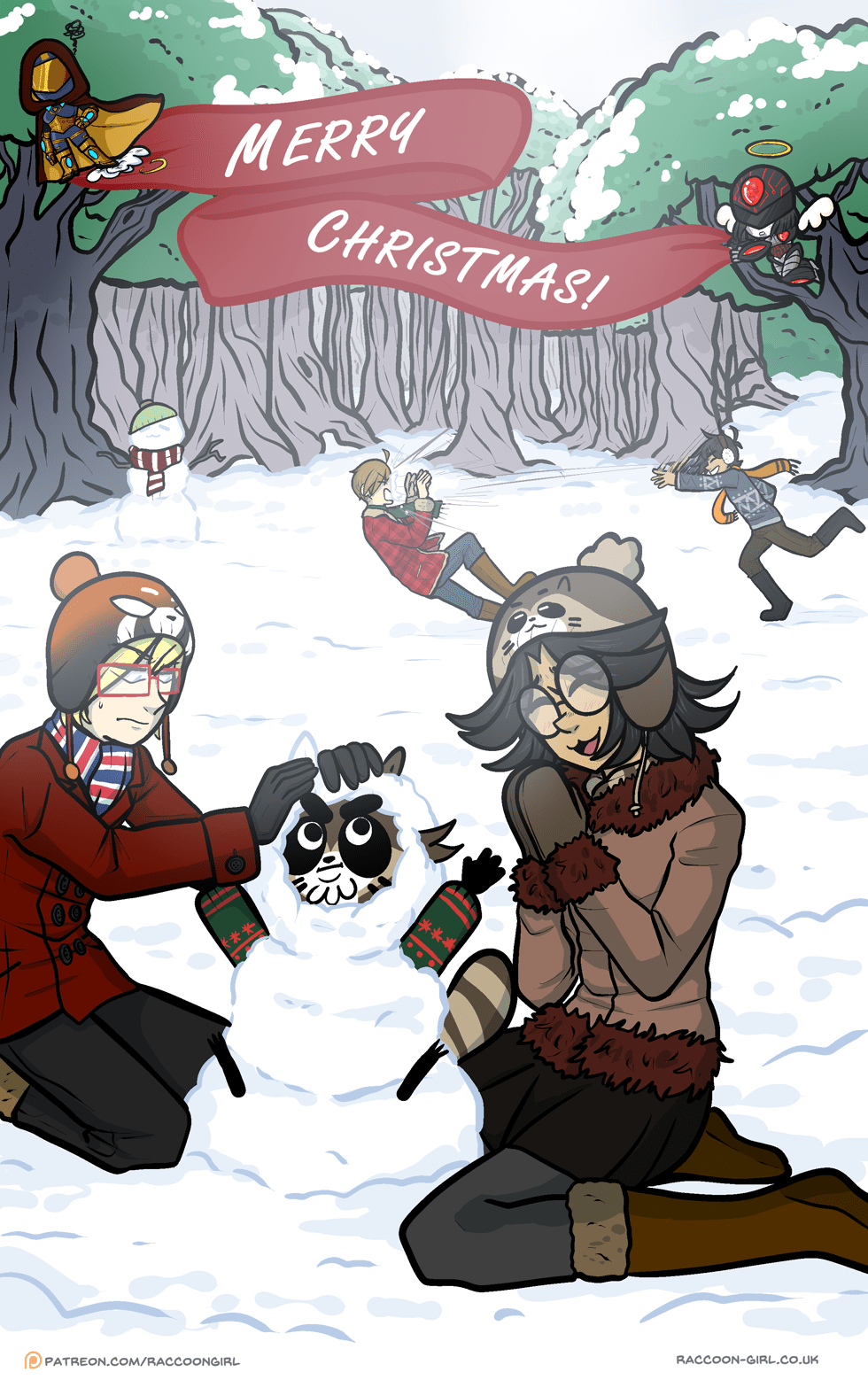 Never snowball fight with your super strong bf