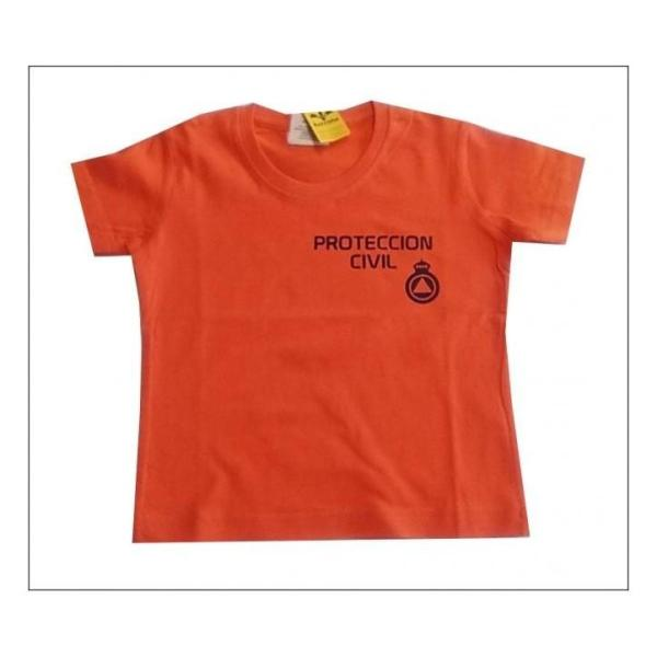 CAMISETA M/C RACCOON PROTECCION CIVIL BEBE
