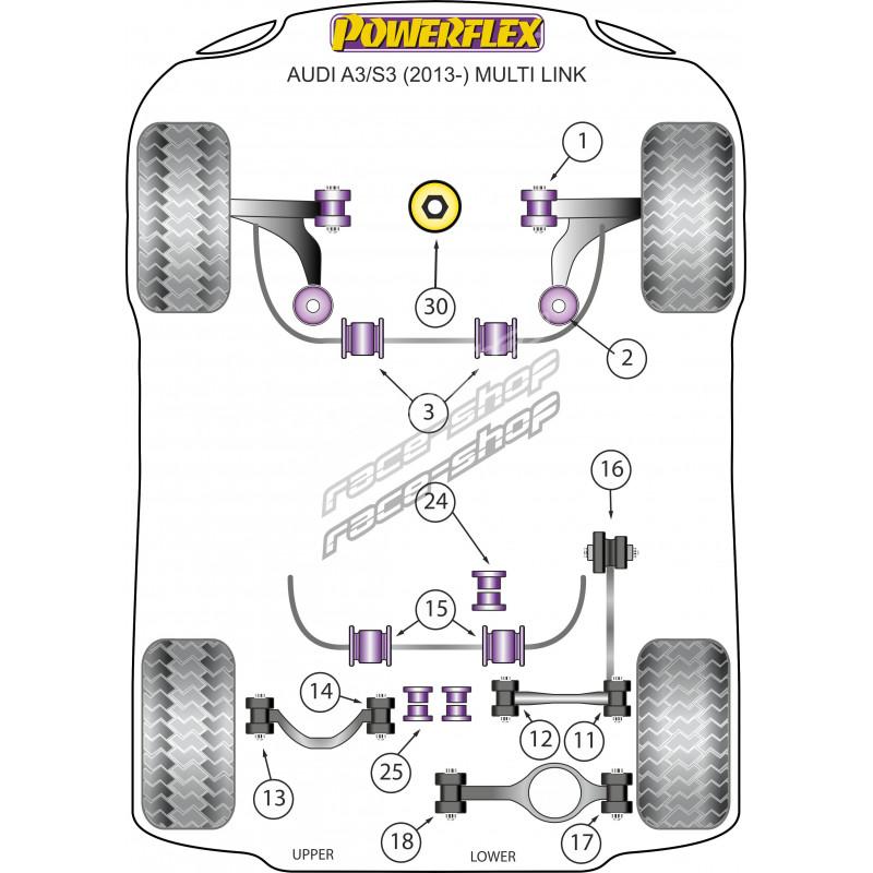 Powerflex Spodný silentblok uloženia motora (vložka