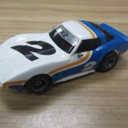 Tyco Corvette Blue and White #2 with mirrors